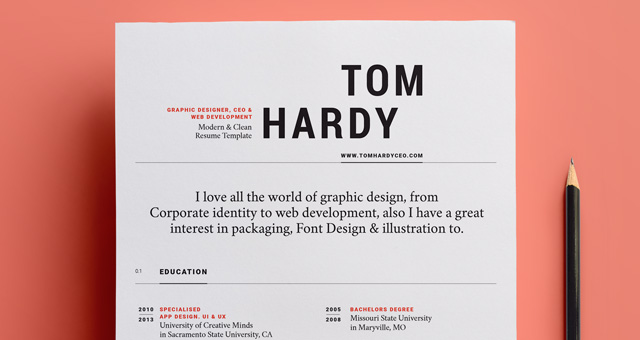 simple resume template vol12 - Resume Template Design