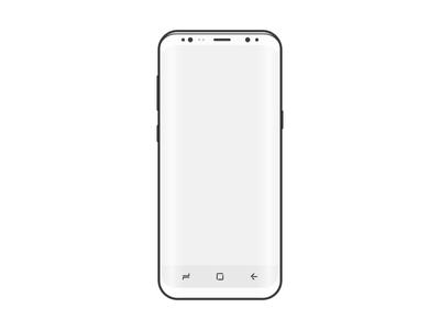 white samsung phone png. free samsung s8 wireframe white phone png