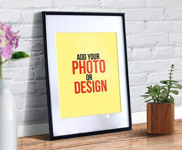 Realistic Photo Frame Mockup PSD