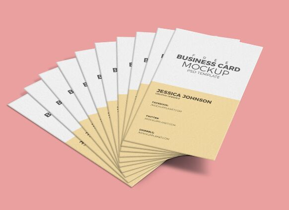 200 best business card mock ups for free download 2018 edition business card mockup psd template reheart Images