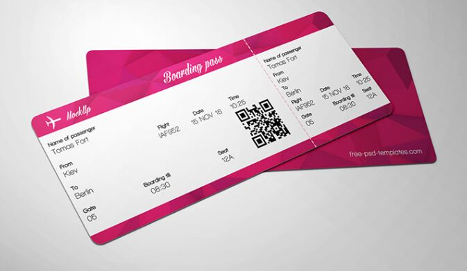 10 Full Free Ticket Mock Ups Psd For Branding Amp Graphic