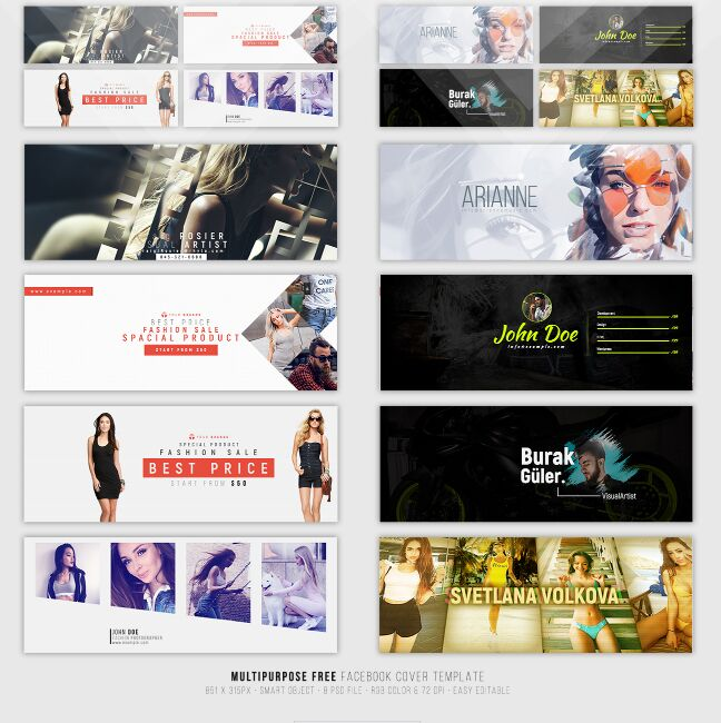 15+ Best Free Facebook Cover Photoshop Templates For 2018 - 365 Web ...