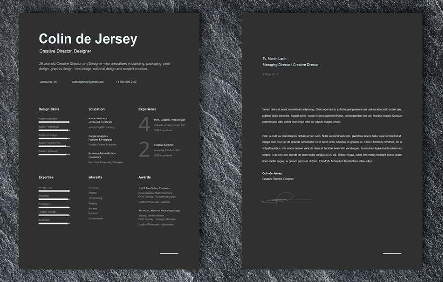 free resume cover letter templates for illustrator