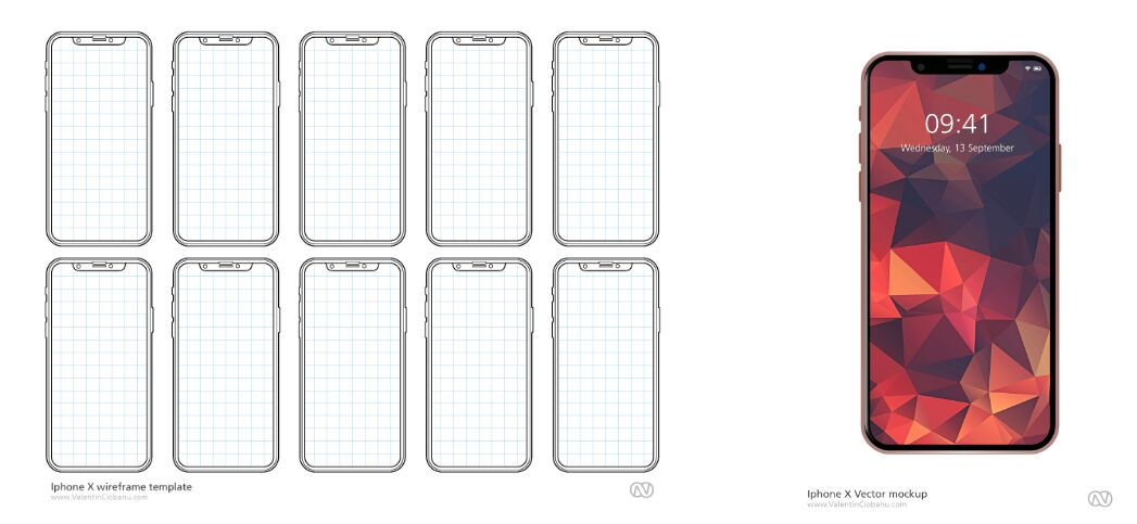 60 Full Free Iphone X Iphone 8 Mock Ups For App