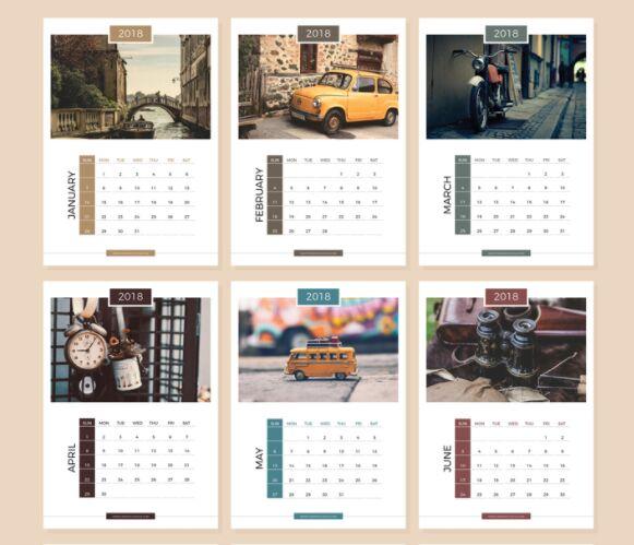 10 free printable 2019 2018 calendar templates for. Black Bedroom Furniture Sets. Home Design Ideas