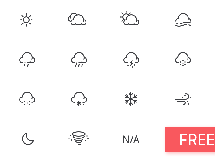80 Best Free Weather Icon Sets Of 2018 365 Web Resources