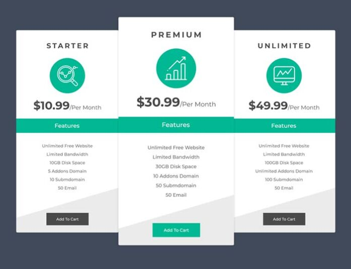 20 best free html css pricing table templates for download.html