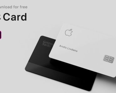 Realistic Apple Card Mockup For Adobe XD