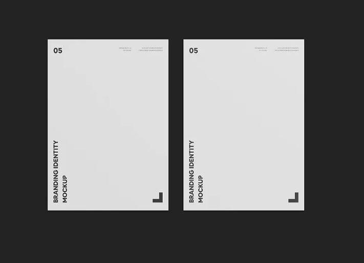 Dual A4 Paper Mockup
