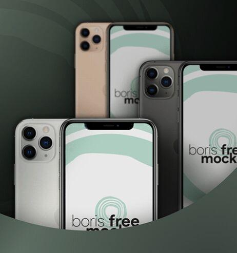 Free iPhone 11 Pro Max (4 Colors) Mockup