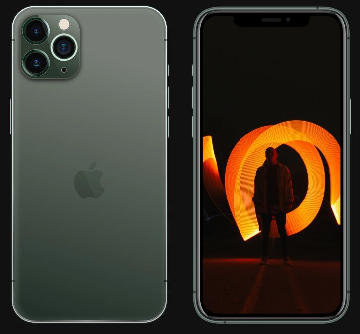 iPhone 11 Pro Front Back View Mockup For Sketch